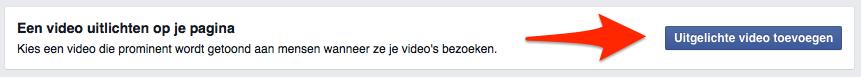 Video uitlichten op een Facebook bedrijfspagina