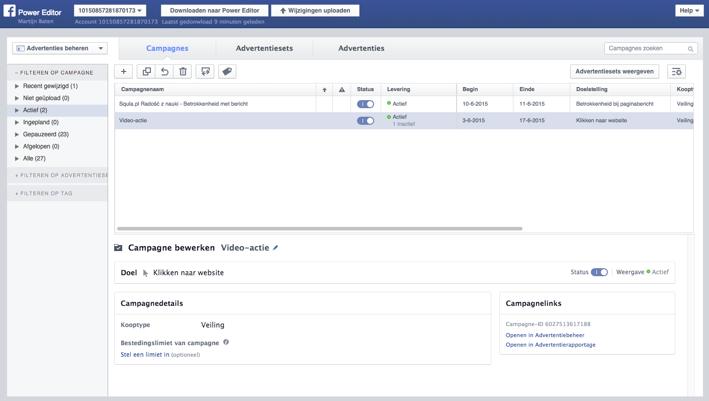 Adverteren op Facebook met de Facebook Power Editor