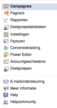 Naar de Facebook Power Editor