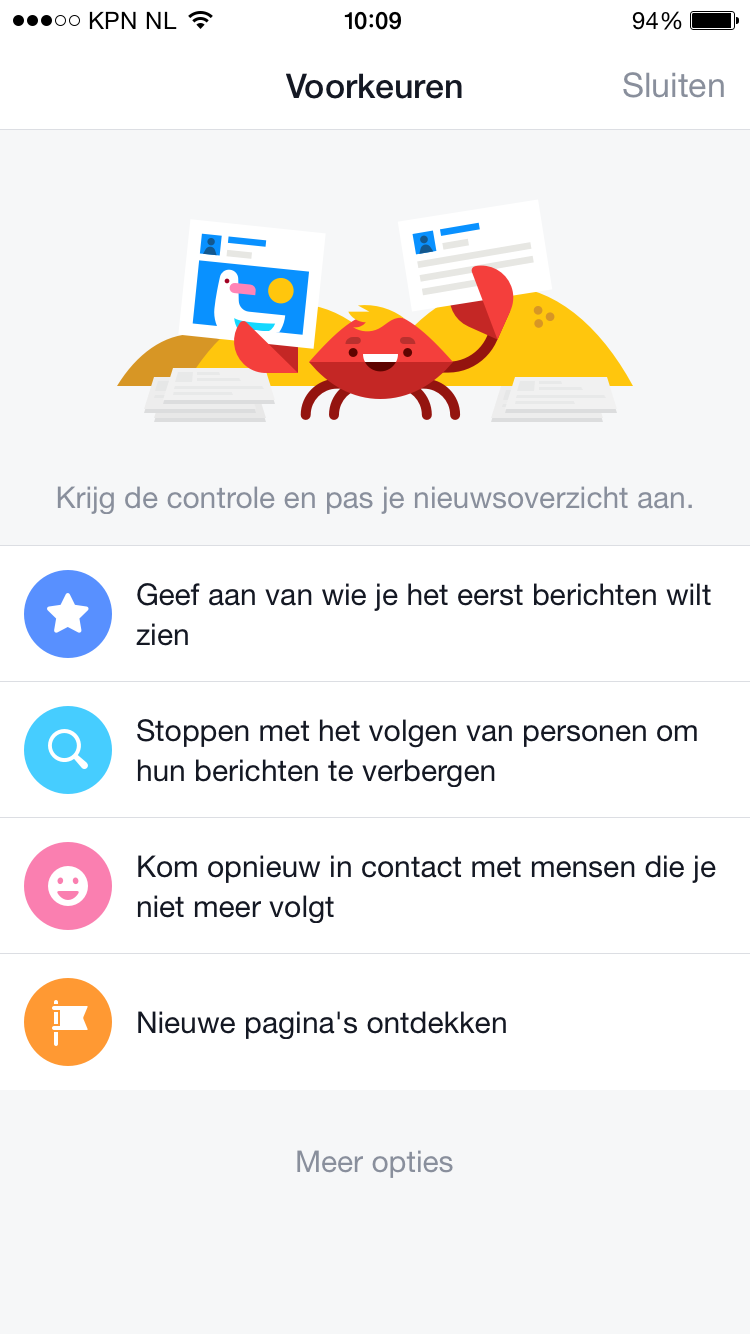 Gebruikers kunnen Facebook nieuwsoverzicht personaliseren