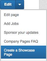 LinkedIn Showcase page maken