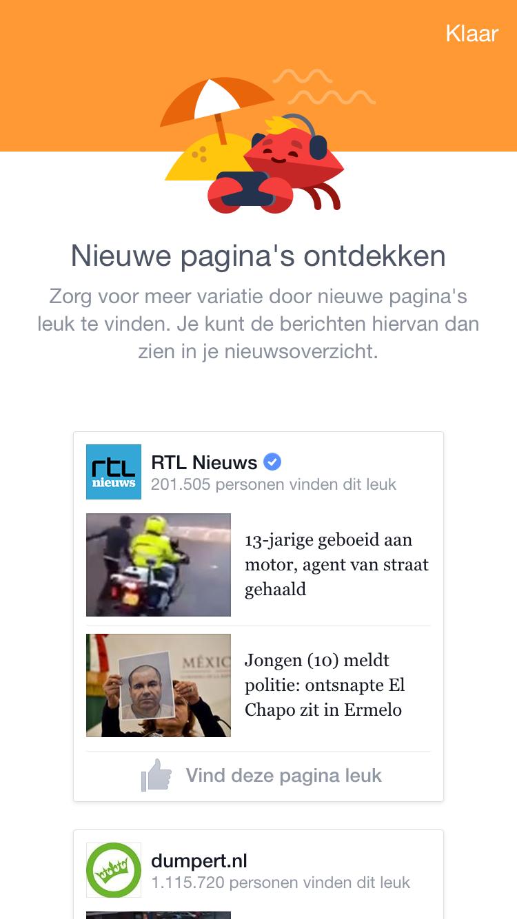 Nieuwe Facebook bedrijfspagina's ontdekken