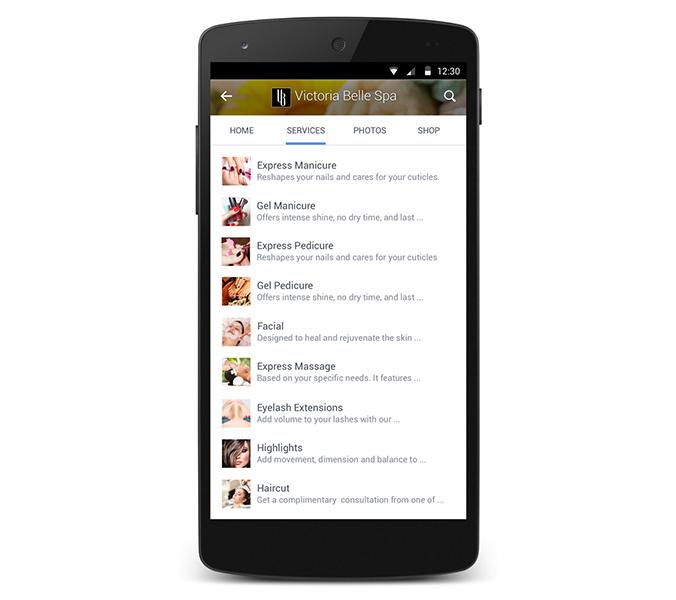 Facebook bedrijfspagina nieuwe tabbladen