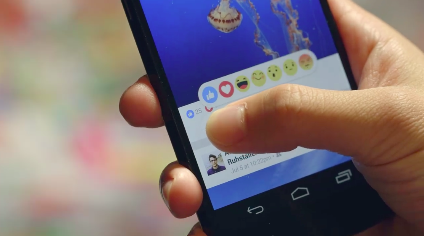 Facebook Reactions alternatief Like-knop