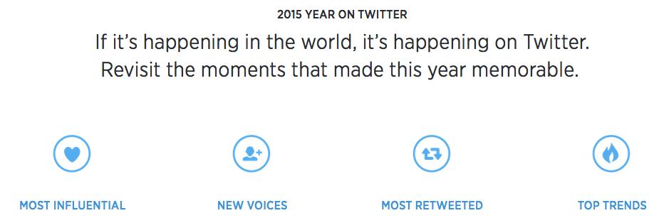 De Twitter-hoogtepunten in het jaaroverzicht van 2015