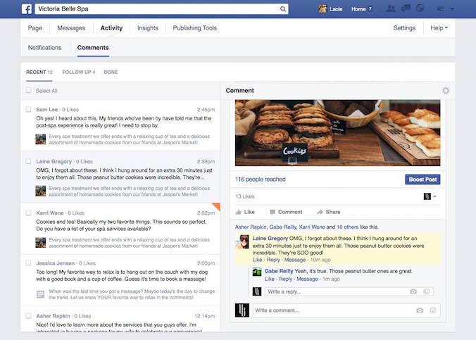 Eenvoudiger reacties beantwoorden op Facebook bedrijfspagina