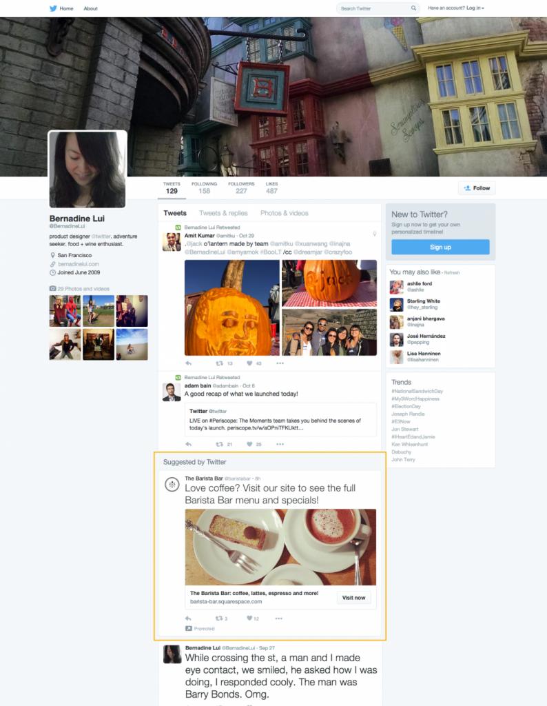 Twitter test advertenties voor niet ingelogde gebruikers