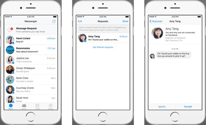 Facebook Messenger berichtverzoek