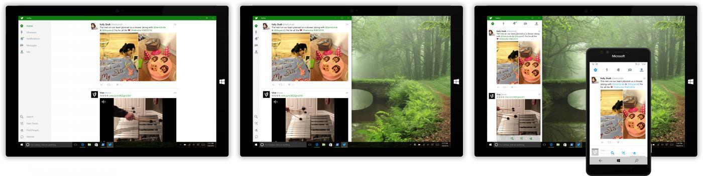 Introductie nieuwe mobiele versie Twitter voor Windows 10