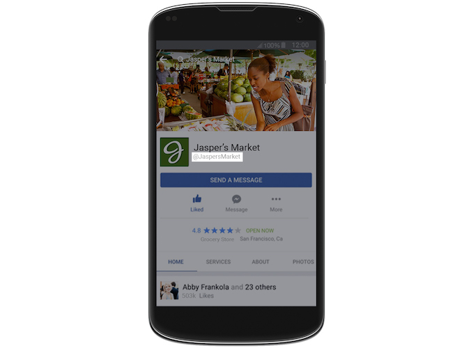 Gebruikersnaam Facebook Messenger