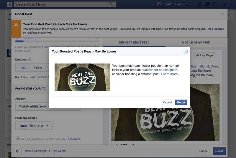 Lager bereik Facebook advertenties