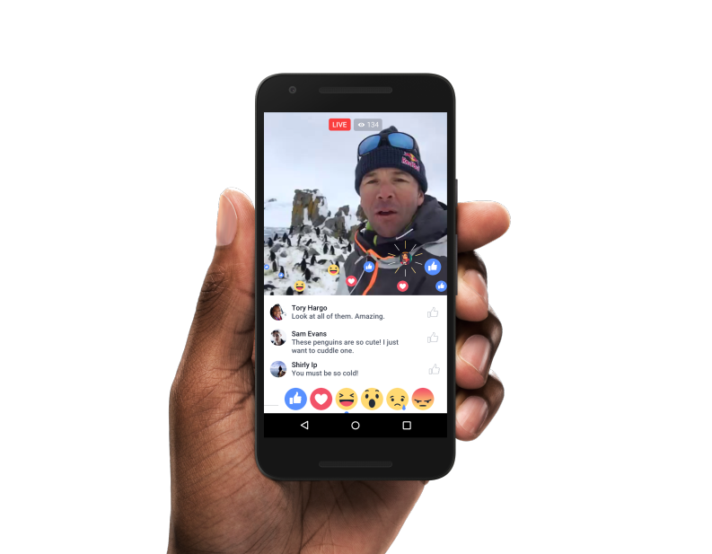 Facebook Live interactie