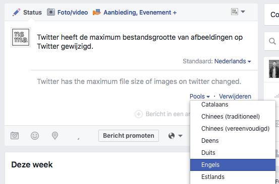 Bericht automatisch vertalen op Facebook