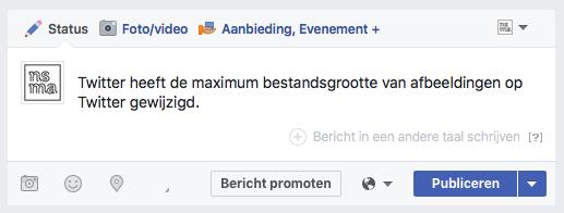 Bericht in een andere taal schrijven op een Facebook bedrijfspagina