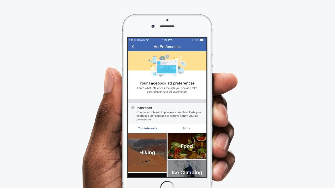 Controle Facebook advertenties