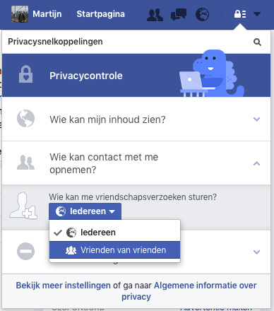 Vriendschapsverzoeken op Facebook selectief blokkeren