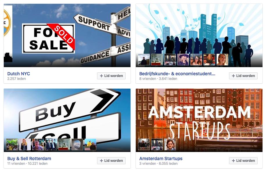 Voorgestelde Facebook groepen