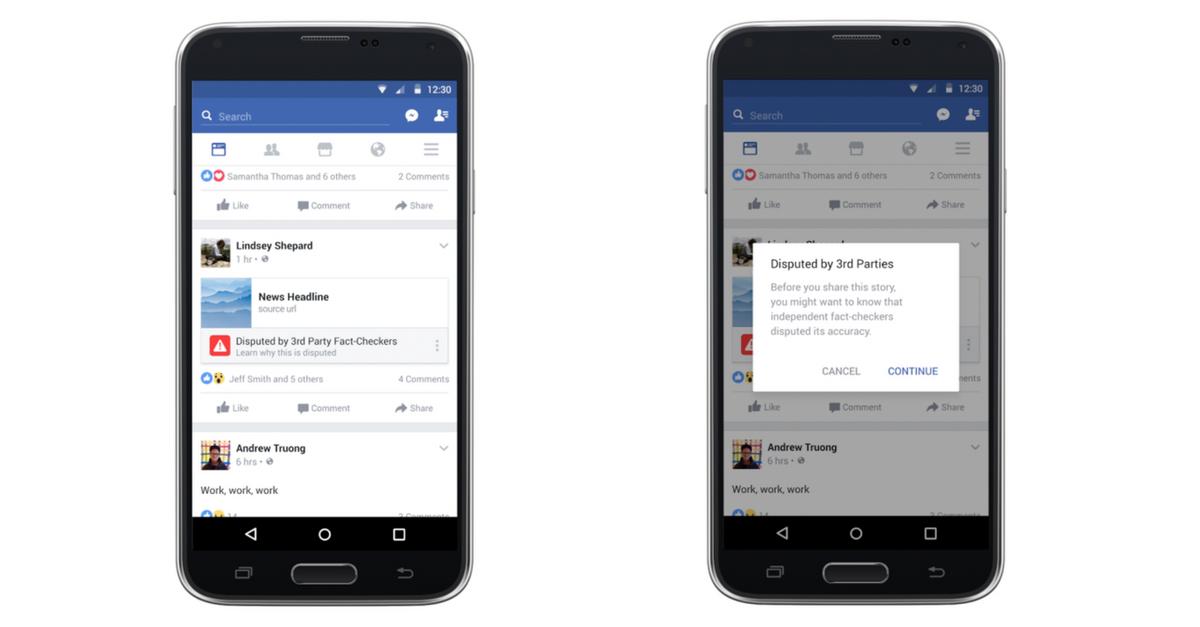Berichten op Facebook betwist