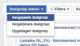 Aangepaste Facebook advertentiedoelgroep maken