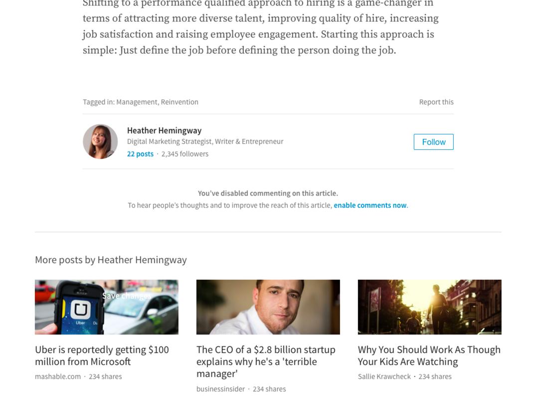 Geen reacties bij content op LinkedIn