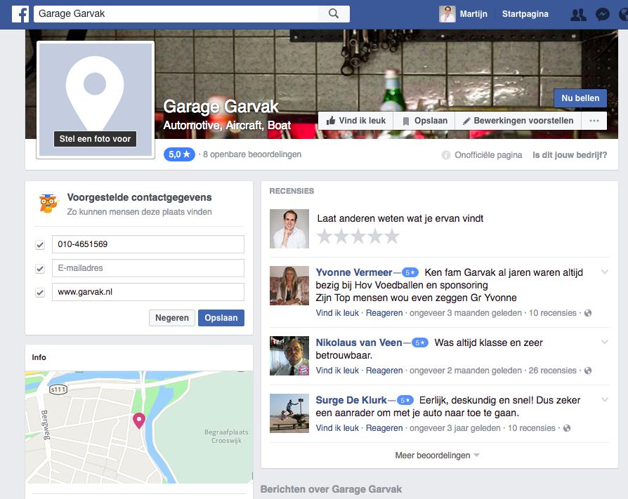 Een onofficiele Facebook locatiepagina claimen