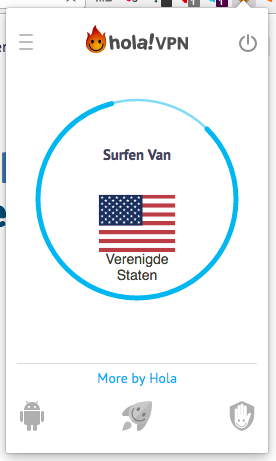 Hola surfen vanuit de Verenigde Staten