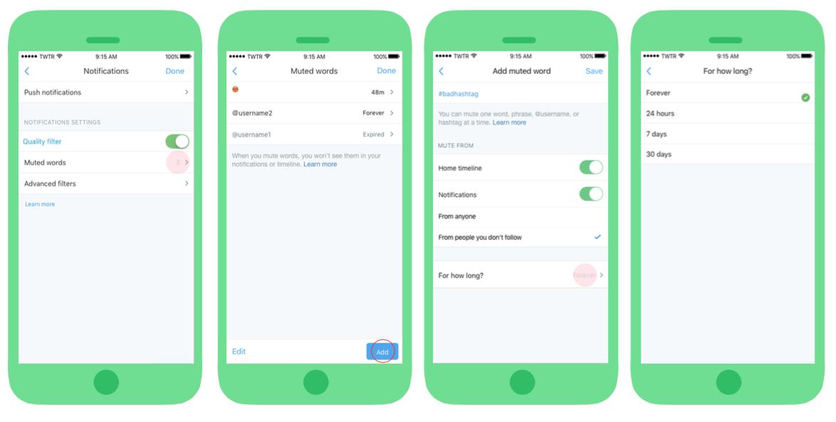 Veiligheid op Twitter uitgebreid met nieuwe mogelijkheden - Mute-knop