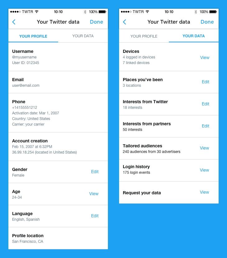 Meer transparantie en controle in de Twitter privacy policy