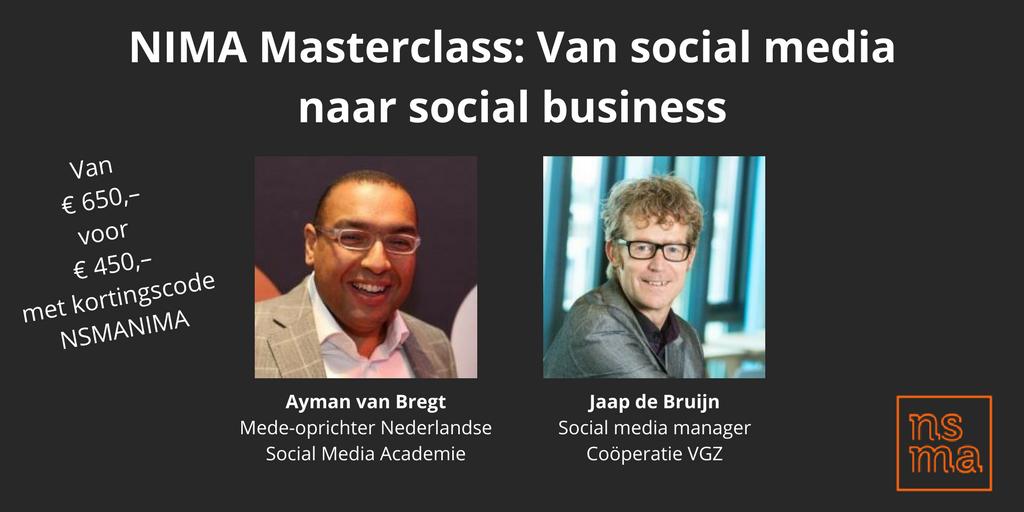 NIMA Masterclass Van social media naar social business