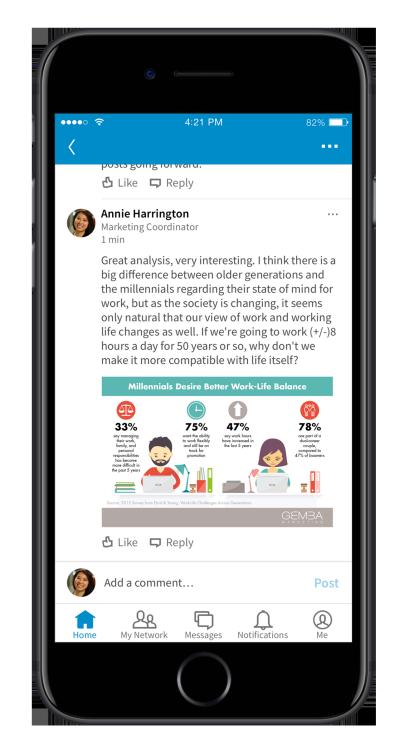 Nieuwe mogelijkheden met het LinkedIn profiel - Visuele reacties