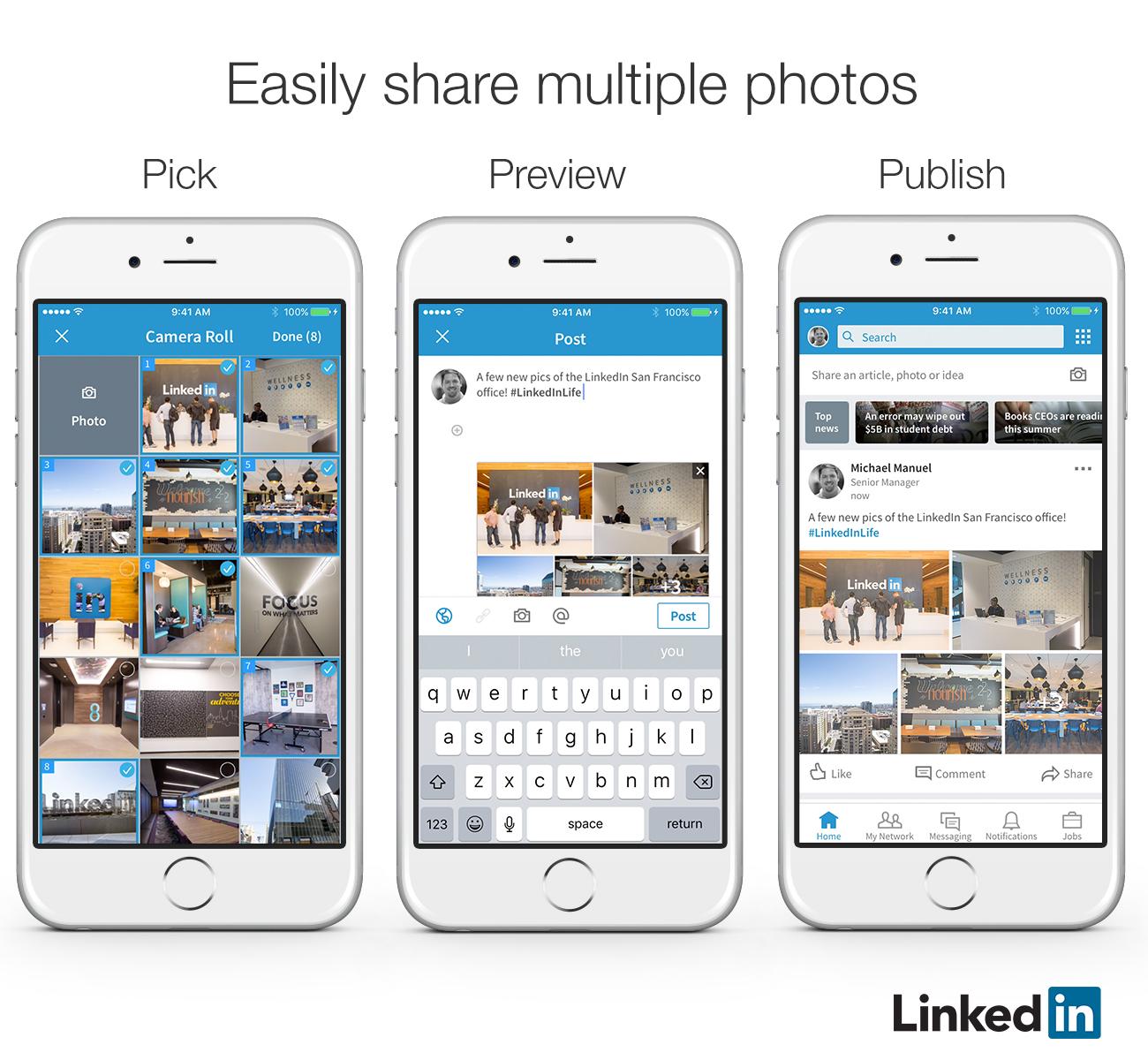 Nieuwe functionaliteiten voor LinkedIn berichten