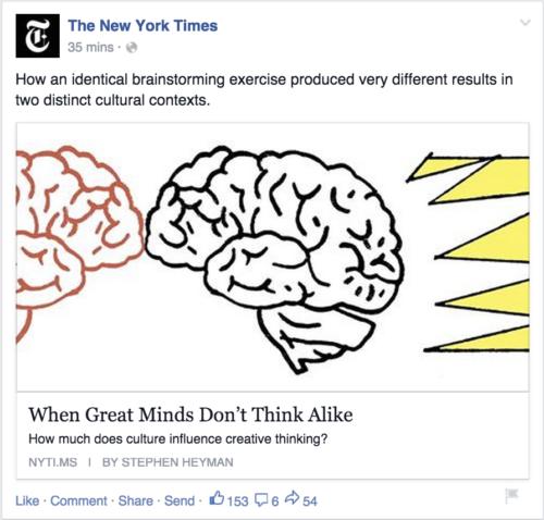 Voorbeeld Facebook bericht met Open Graph Tags