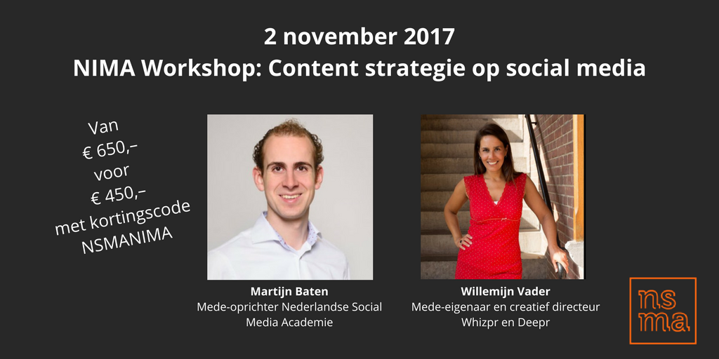 NIMA Workshop Content strategie voor social media