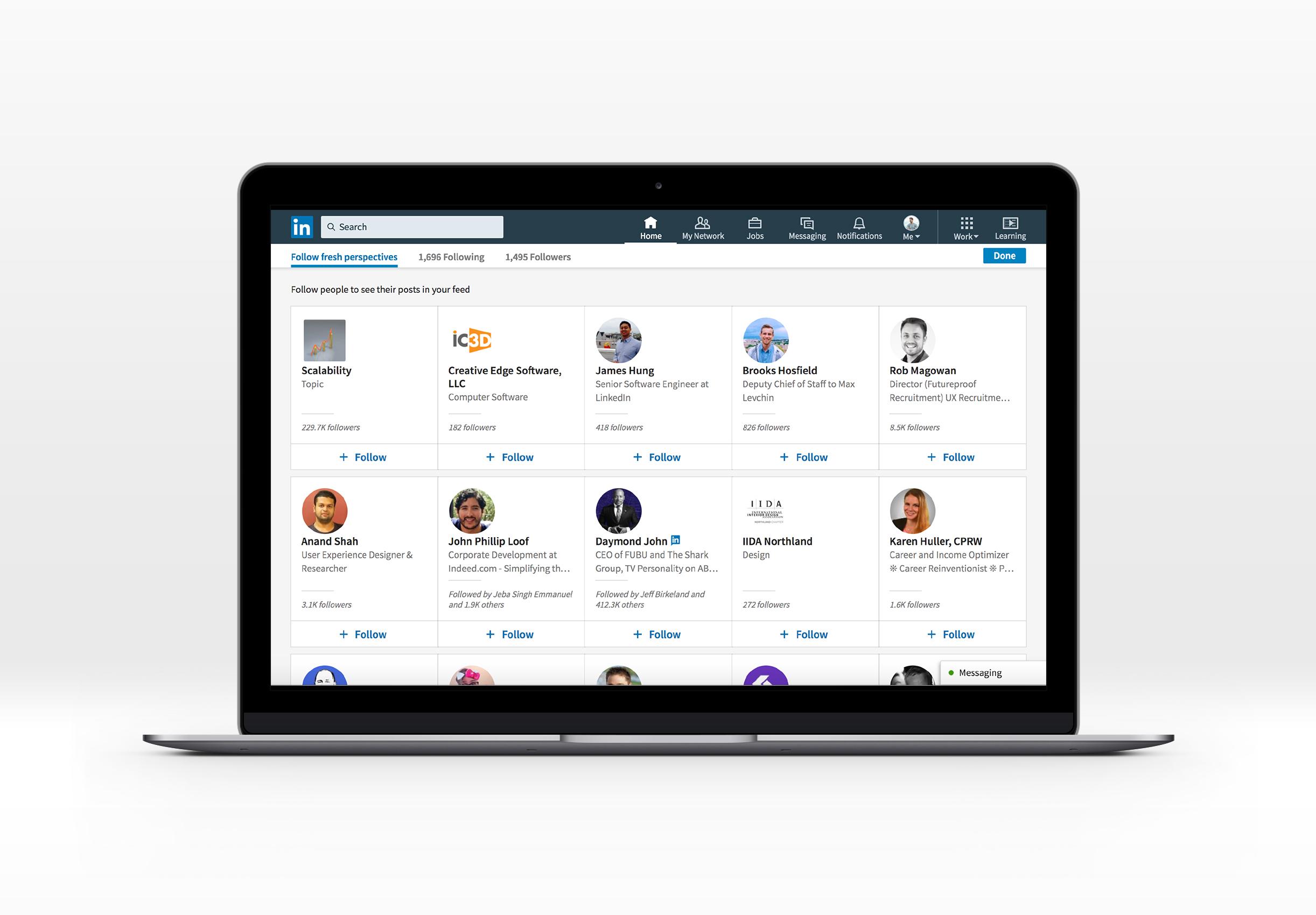 Nieuwe inspiratie ontdekken met de LinkedIn Follow Hub