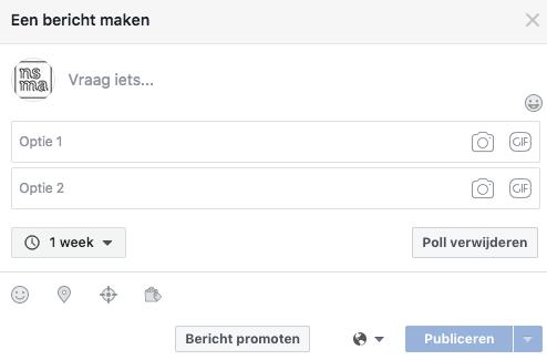 Een Facebook Poll aanmaken