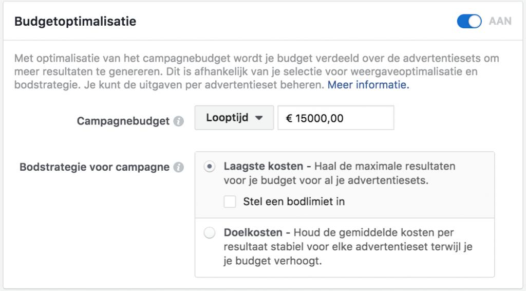 Budgetoptimalisatie adverteren op Facebook