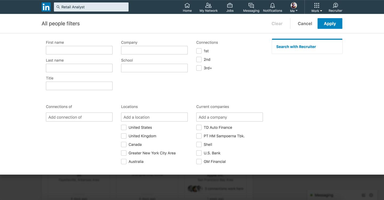 Nieuwe zoekmogelijkheden op LinkedIn