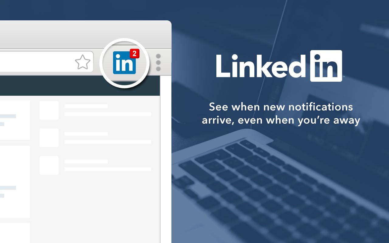 Blijf op de hoogte in Google Chrome van LinkedIn activiteiten