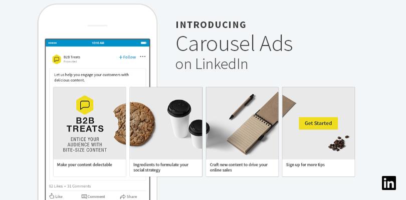 Carousel advertenties op LinkedIn beschikbaar
