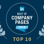De 10 beste LinkedIn bedrijfspagina's van 2018