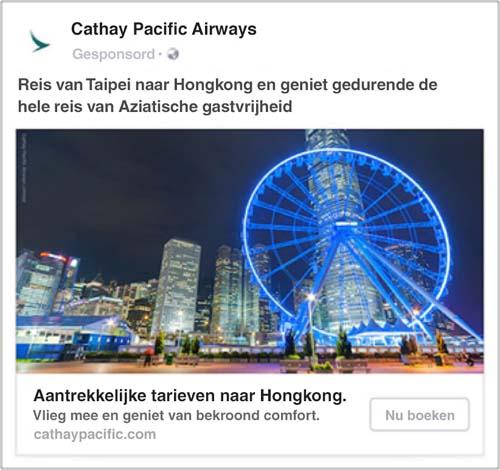 Facebook Dynamic Ads voor reizen