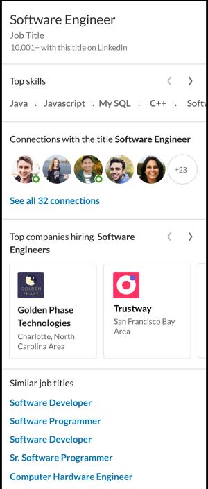 Belangrijkste inzichten bij een vacatures op LinkedIn