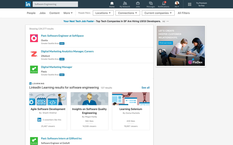 LinkedIn Learning bij vacatures op LinkedIn