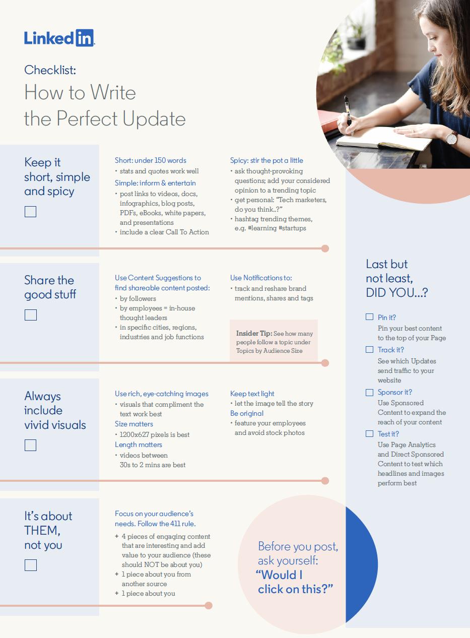 Tips voor een perfecte LinkedIn update