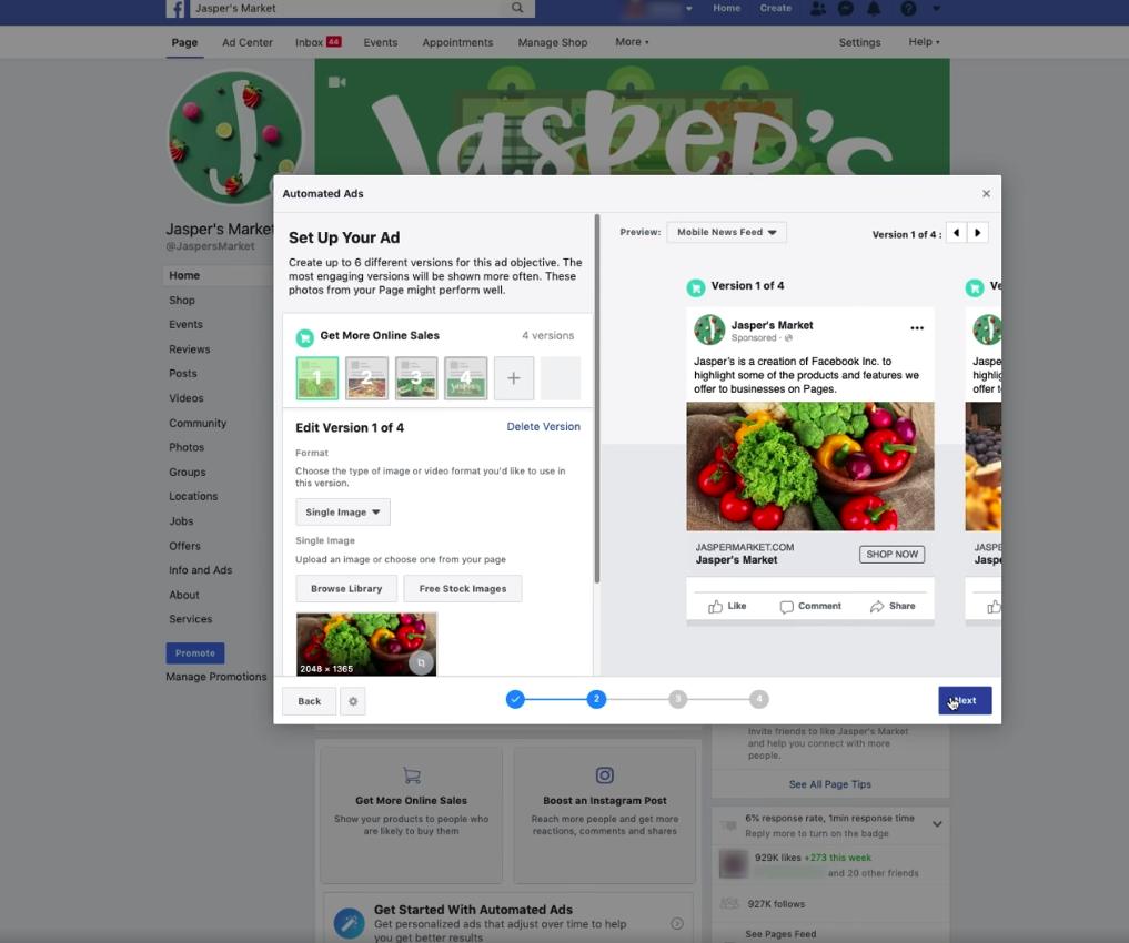 Geautomatiseerde advertenties op Facebook