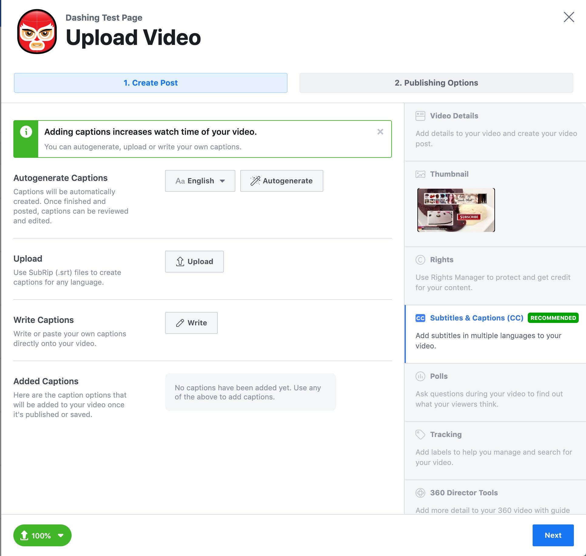 Video op Facebook - Facebook Creator Studio