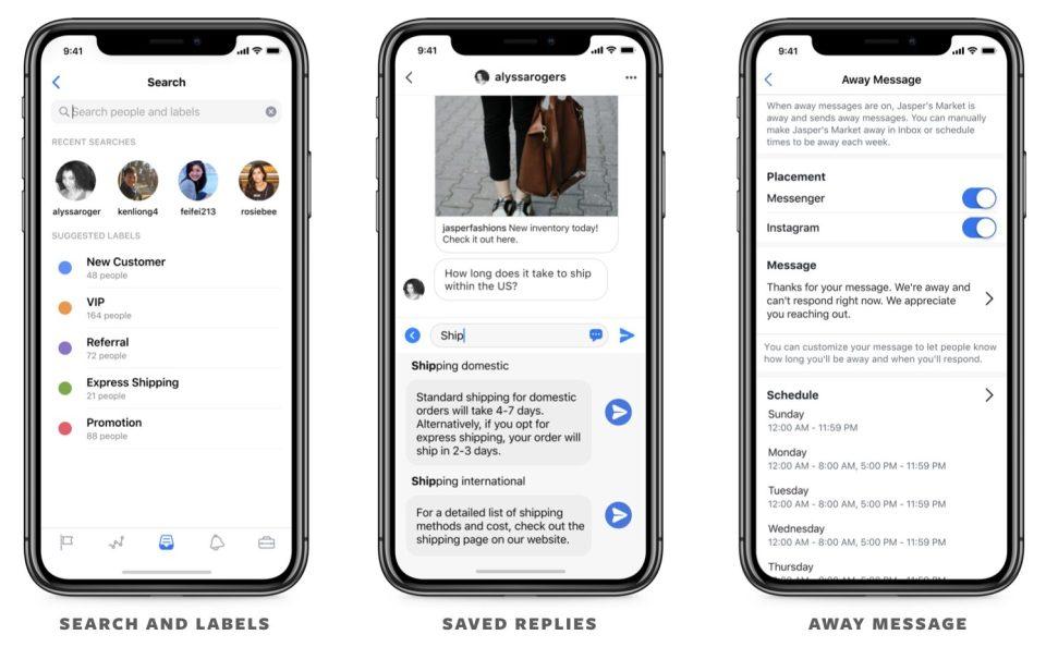 Uitbreiding van Inbox op Facebook bedrijfspagina's